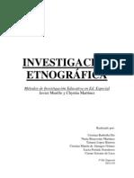 Investigación etnográfica
