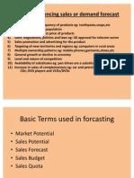 Sales Forecast or Demand Forecast