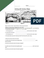 Contour Lines;Cross-Section Activity