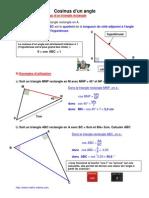 cosinus d'un angle (4ème)