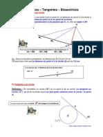 diatnce - tangentes - bissectrice d'un angle (4ème)
