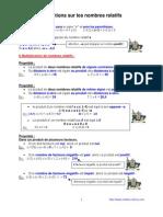 opérations sur les relatifs (4ème)