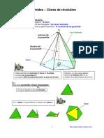 pyramides et cônes (4ème)