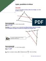 triangles - parallèles - milieux (4ème)