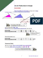 théorème de Thalès dans le triangle (4ème)