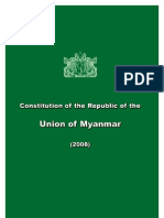 Myanmar Constitution 2008 English version
