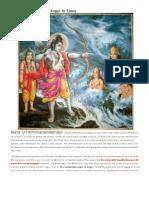 Sri Rama Commanded Anger