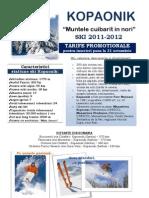 KOPAONIK - Oferta Ski 2011-2012