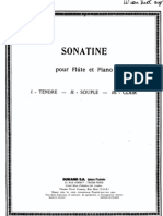 D Milhaud Sonatine Pour Flute and Piano