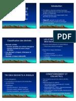 GESTION DES DECHETS DE LABORATOIRE [Mode de compatibilité]