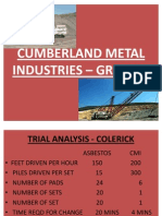 CUMBERLAND METAL INDUSTRIES – GROUP 1