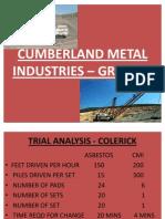 CUMBERLAND METAL INDUSTRIES – GROUP 1