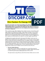 Five Factors to Energy Efficiency
