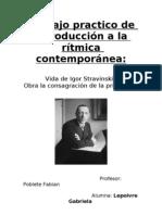 Trabajo Practico Ritmica Contemporanea Stravinsky