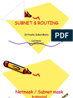 Sub Netting and Routing