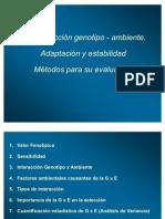 4.7      Interacción Genotipo x Ambiente