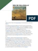 HISTORIA DE CHILLOGALLO