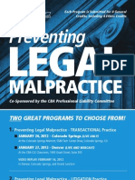 Preventing Legal Malpractice in 2012
