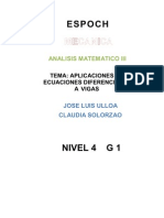 Ecuaciones Diferenciales Para Vigas Columnas