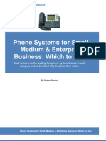 Phone Systems for Small Medium Enterprise Business Which to Buy CBP