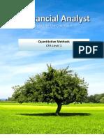 Financial Analyst CFA Study Notes: Quantitative Methods Level 1