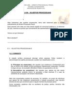 Aula 08 - Sujeitos Processuais