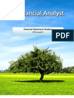 Financial Analyst CFA Study Notes: Financial Statement Analysis Level 1