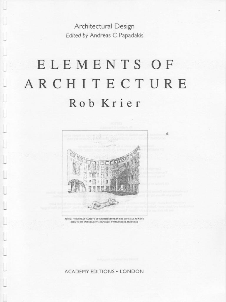KrierVienna Ciência Rob Architecture Elements Of ulFK51Jc3T