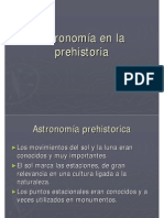 Astronomia en La Prehistoria