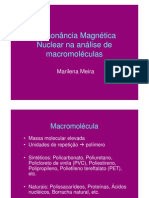 Ressonância Magnética Nuclear na análise de macromoléculas