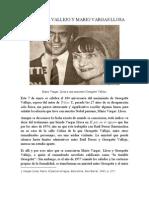 Georgette Vallejo y Mario Vargas Llosa