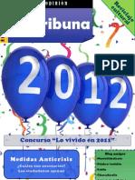 Revista La Tribuna de Opinión. Enero de 2012. La revista en la que tú puedes opinar