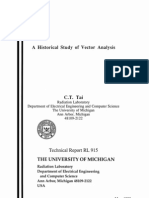 A Historical Study of Vector Analysis