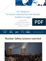 US Response to the Lessons Learned From the Nuclear Accident in Japan