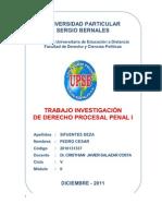 Universidad Peruana Sergio Bernales Derecho Procesal Penal 1-Diciembre