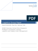 Logistics Group Paper