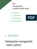 Teknik Vokal
