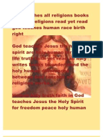 God Teaches All Religions Books Write of Religions Read Yet Read God Teaches