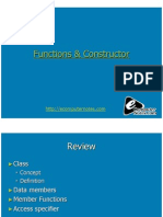 Computer Notes - Functions & Constructor