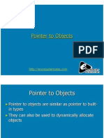 Computer Notes - Pointer to Objects