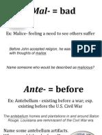 Prefix Family Vocab PDF