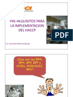Pre Requisitos Sistema Haccp