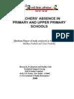 EdCIL Report of Teachers Absence Study Doc by Vijay Kumar Heer