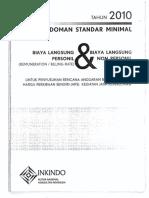 49924392 Pedoman Standar Minimal Biaya Langsung Personil Dan Biaya Langsung Non Personel Tahun 2010 Guidelines of Minimum Standard of Remuneration Billing Rate