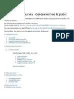 Lime Survey - General Outline