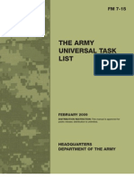 The Army Universal Task List