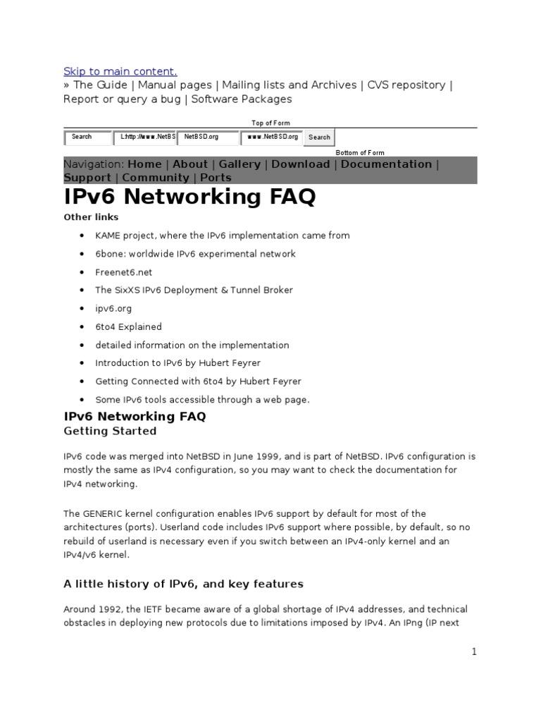 The Guide IPv6 | I Pv6 | Ip Address