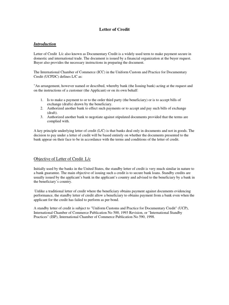 Assignment on lc letter of credit credit finance altavistaventures Image collections