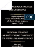 Creating A Conducive Language Environment