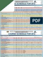 NIOSH 2012 Course Calendar